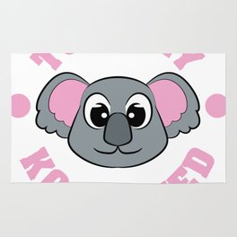 """Be """"Totally Koalafied"""" with this cute and adorable koala inviting you to grab them now!  Rug"""