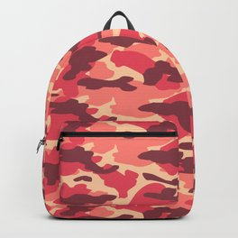 Red Camouflage Design Backpack