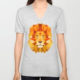 Lion, The King of the Jungle Unisex V-Neck