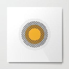 Circles and Dots Metal Print
