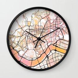 Seoul South Korea Street Map Color Wall Clock