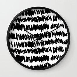 Modern Paint Stripe Wall Clock