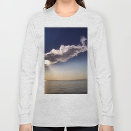Lake Sakakawea Cloud Wind Long Sleeve T-shirt