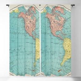 Western Hemisphere, World Atlas by Rand, McNally and Co (1908) Blackout Curtain