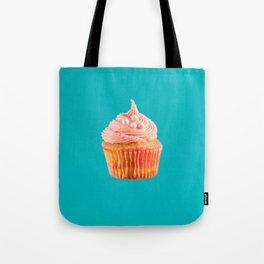 Cupcake Love | Pink & Pearls on Aqua Tote Bag