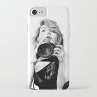 angelina jolie iPhone & iPod Cases featuring Angelina Jolie by Jade Chauvin