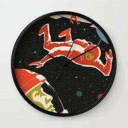 Space Man Vintage Wall Clock