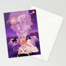 Lesbian Pirates From Outer Space in Fallen Gods Cover Stationery Cards