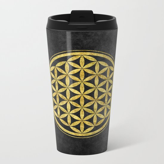 Flower Of Life 007 Metal Travel Mug