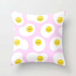 Cute Fried Eggs Pattern Throw Pillow