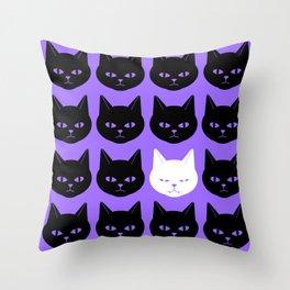 Cats Purple Throw Pillow