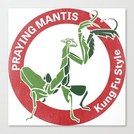 Praying Mantis Style Canvas Print