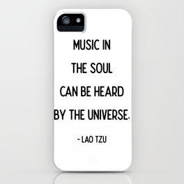 Quotes: Lao Tzu: Music. iPhone Case