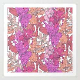 Graphic iris Art Print