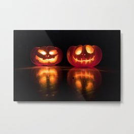 Halloween Jack-o'-lantern Metal Print