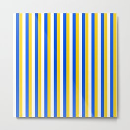 Team Colors 4... yellow, blue,white Metal Print