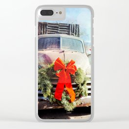 Christmas In Taos, New Mexico Clear iPhone Case