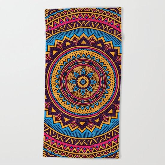 Hippie Mandala 19 Beach Towel