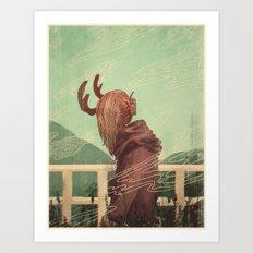 Last Year's Antlers Art Print