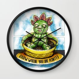 Grow where you are planted Wall Clock