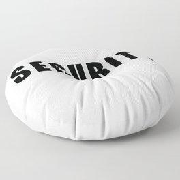 SECURITY TEE SHIRT inverse edition Floor Pillow