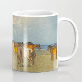 Numazaki Pasture (Numazaki Bokujo) Hiroshi Yoshida Vintage Japanese Woodblock Print Coffee Mug