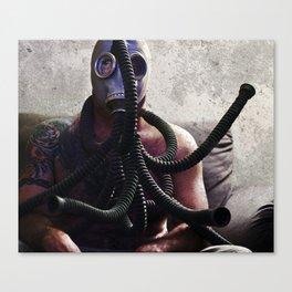 Gas Mask Medusa Canvas Print