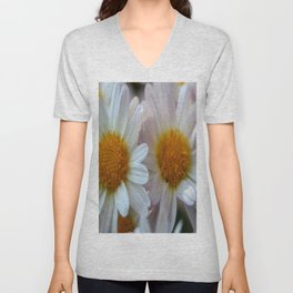 Hazy Day Daisies  Unisex V-Neck