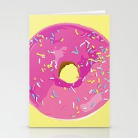 donut Stationery Cards featuring donut by Britt Mansouri