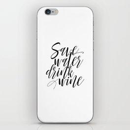 "Printable Art ""Save Water Drink Wine"" Wall Art Wall Prints Gallery Wall Prints Funny Art iPhone Skin"