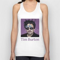 tim burton Tank Tops featuring Tim Burton by Pazu Cheng