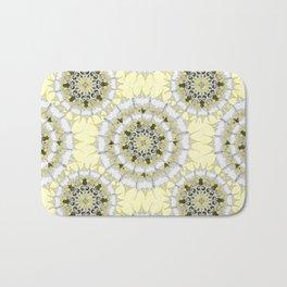 Lemon Pie Mandala Pattern Bath Mat