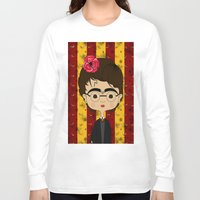 potter Long Sleeve T-shirts featuring Frida Potter by Camila Oliveira