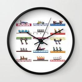 Cedar Point Coaster Cars Design Wall Clock