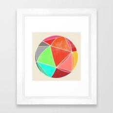 geodesic 2 Framed Art Print