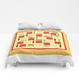 Box Pizza Comforters