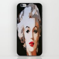 monroe iPhone & iPod Skins featuring Monroe by The Art Of Gem Starr
