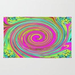 Groovy Abstract Pink Swirl Art 094 Rug