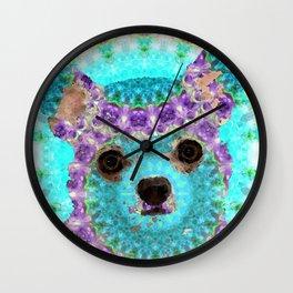 Chihuahua Mandala Dog Art by Sharon Cummings Wall Clock