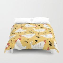 Lovely Little Hens Duvet Cover