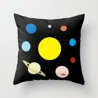 solar system Throw Pillows featuring Solar System by fairandbright
