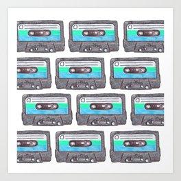 Cassette Patten *Light Blue Art Print