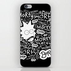Rick and Morty - MORTY MORTY burp MORTY iPhone & iPod Skin