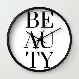 Black And White Beauty Fashion Quote Wall Clock