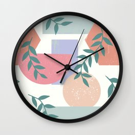 Vines and shapes Wall Clock