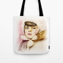 Pastel Drawing of Janie Tote Bag