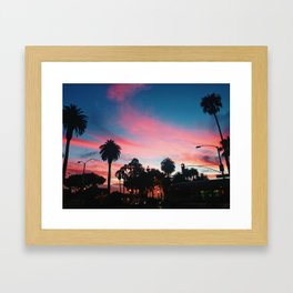 Cotton Candy Skies Framed Art Print