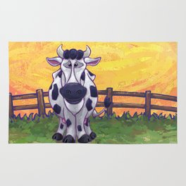 Animal Parade Cow Rug