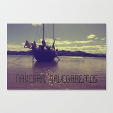 Palabras ( words ) sail , sail  Canvas Print