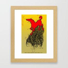 Chinese Zodiac Horse Framed Art Print